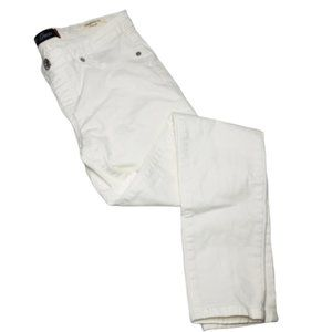 GUESS | White Lena Low-rise Skinny Jeans